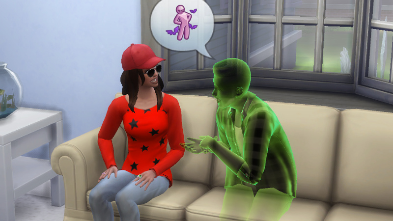 Melvin's ghost tells Claire about vampires; Claire looks horrified