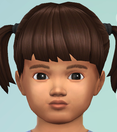 CAS picture of a brown-haired, female toddler with pigtails